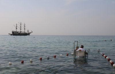 Otomatik ray sistemiyle denize girebilecekler